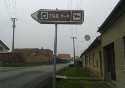 Areál M+M Stáje Ptení navigace 3